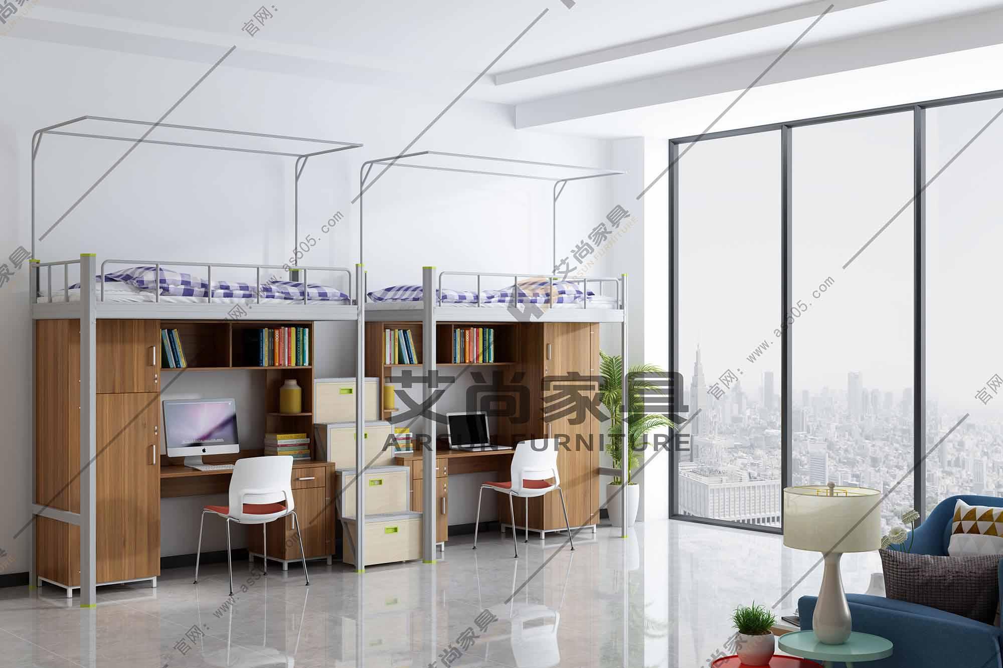 楼梯式公寓床