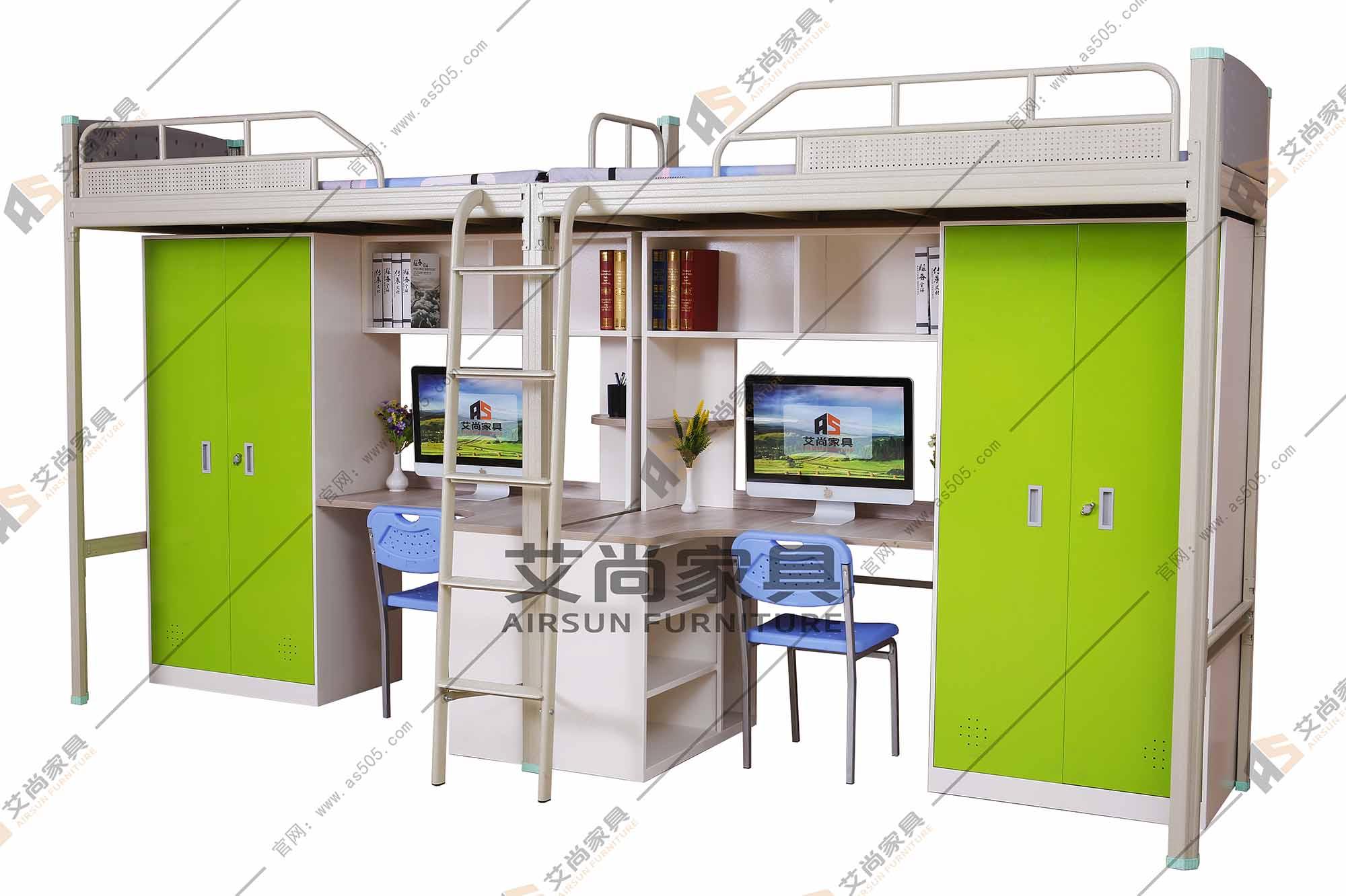 大学生宿舍床图片
